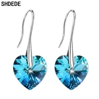 shdede dangle earrings embellished with crystals from swarovski drop eardrop hypoallergenic wedding party jewelry gift 263