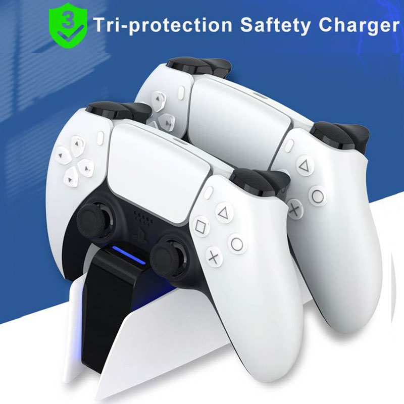 Двойное быстрое зарядное устройство для PS5 беспроводной контроллер USB Type-C зарядная док-станция для Sony PlayStation5 Джойстик Геймпад