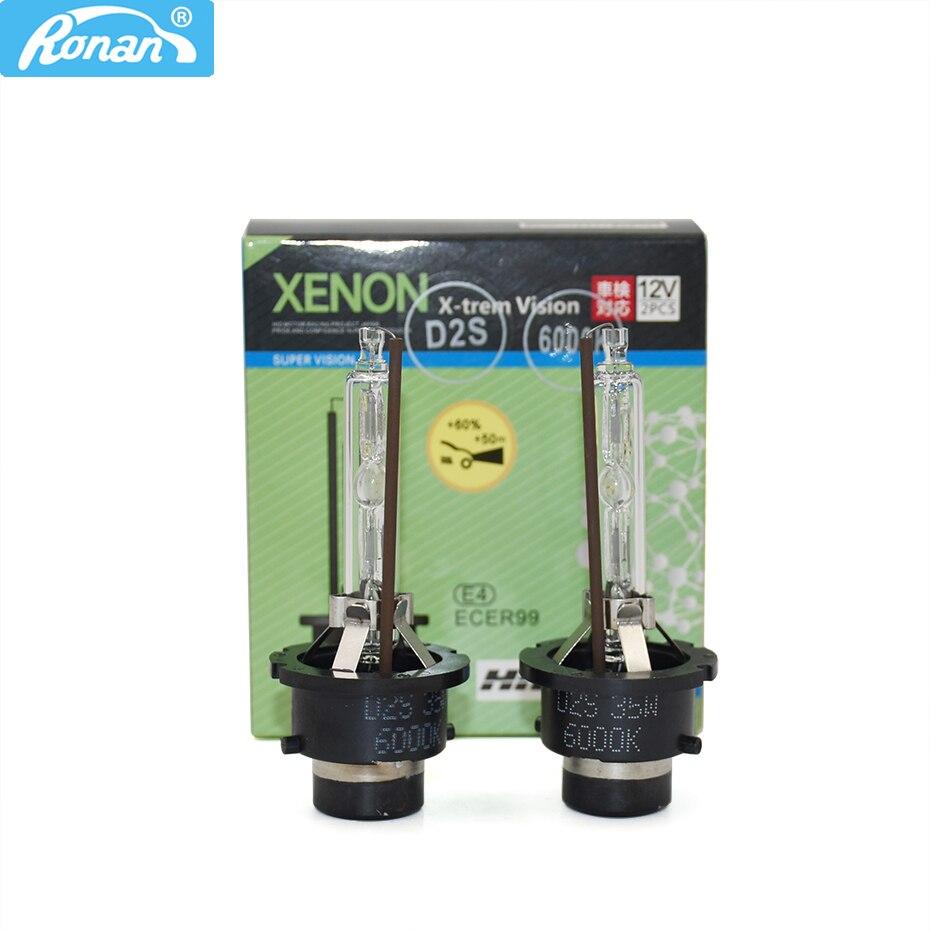 RONAN xenon HID headlight bulb E-mark D2S headlamp light 4300K 6000K 8000K 12V 35W headlamp