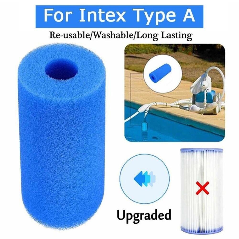 Filtro de espuma para piscina, esponja reutilizable, limpiador de bioespuma, tipo Intex,...