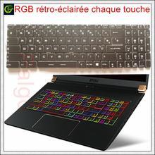 Französisch Azerty Pro-key RGB backlit volle farbe Tastatur für MSI GE65 9SE GE75 Raider 8RE 8RF 8SE 8SF 8SG 9SG 9SE 9SF bunte FR