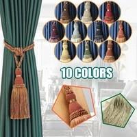 thours 2pcs curtain tassel tieback handmade hanging ball tassels fringe curtain buckle rope decoration room accessory