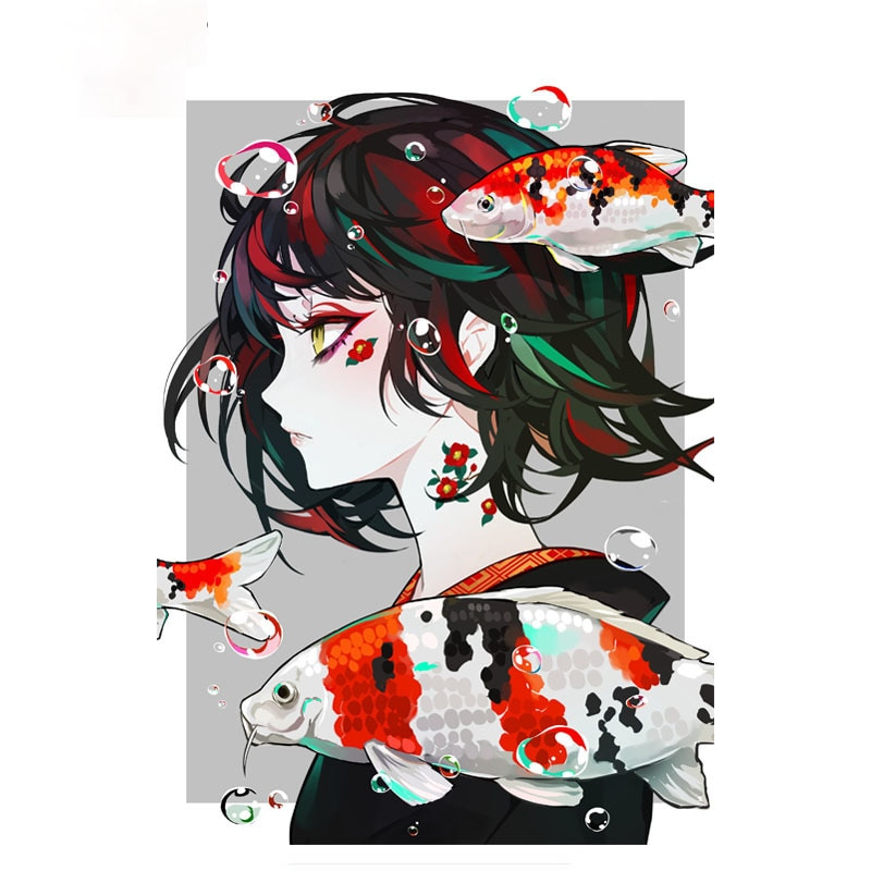 Cool Anime Girl for Peugeot Car Sticker Personalized Creative Scratch Stickers Vinyl Waterproof Decal Apply To Car Window window