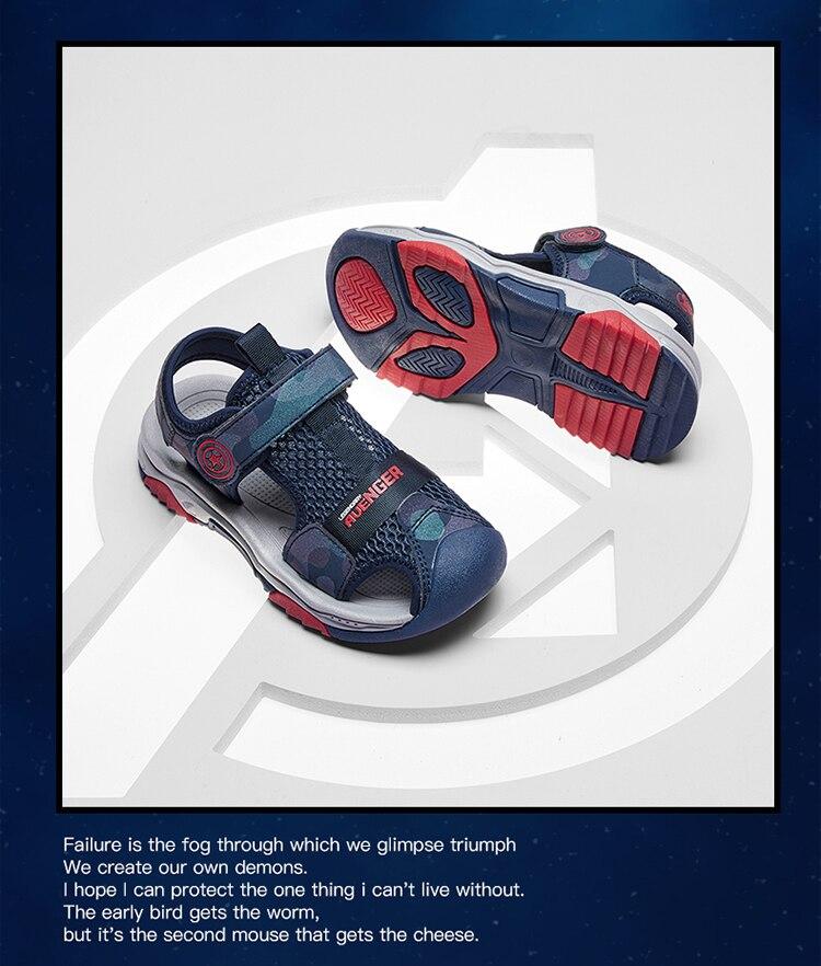 Marvel Avengers Captain America Breathable Non-slip Outdoor Beach Shoes Children's Baotou Sandals Sports Sandals enlarge