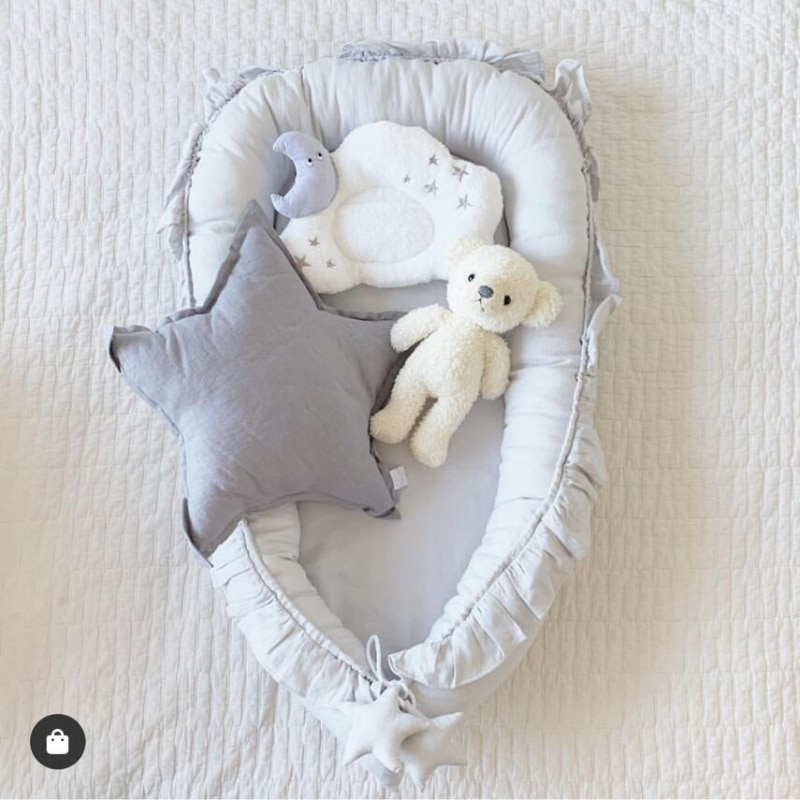 Baby Cribs Baby Newborn Sleeping Bag Pillow Portable Travel Infant Toddler Baby Bed Bassinet Bumper Blanket Bedding Set kid room