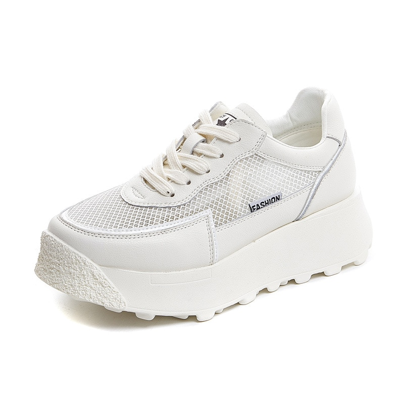 2021 Genuine Leather Vulcanized Shoes Women White Sneakers Soft Breathable Running Sports Shoes Ladies Females Casual Shoes New