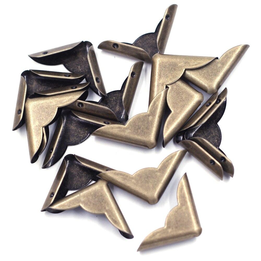 40 Треугольники кружева защитные металлические уголки сделай сам Книга фотоальбомы меню Скрап папки замена оборудования 30x22x6,5 мм, подходит...