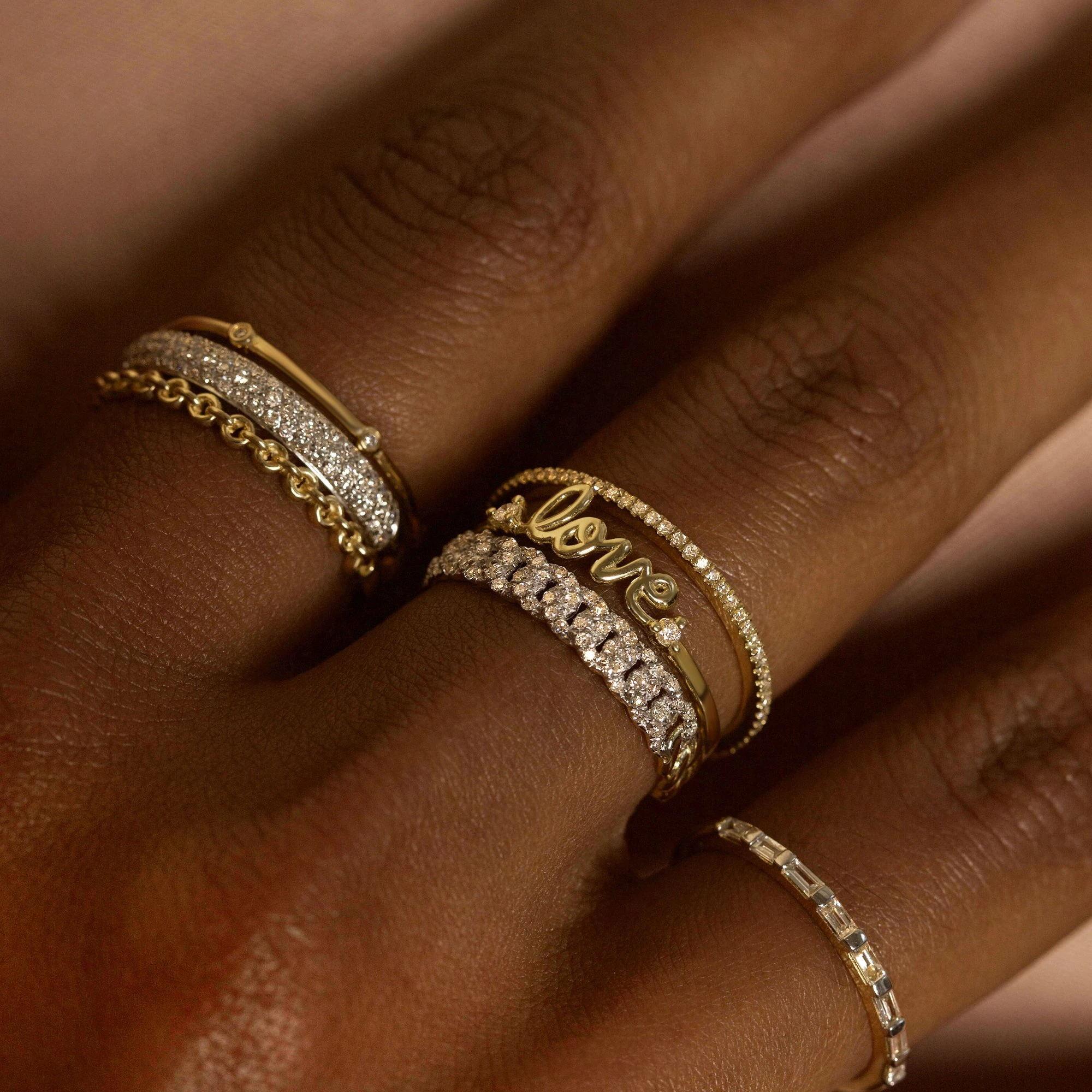 2021 ко Дню Святого Валентина, подарок для любимой, гипоаллергенно хлопковые носочки с буквенным принтом «Love», с искрение CZ Минимальный 925 пробы серебро позолоченное серебро кольцо