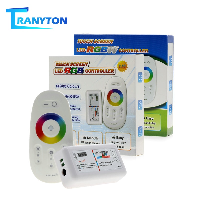 Touch Screen LED RGB / RGBW Controller 2.4G Wireless DC12-24V Touch RF Remote Control For RGB /RGBW LED Strip 2 4g touch screen led rgb rgbw controller wireless dc12 24v touch rf control for rgb rgbw led strip 18a remote controller