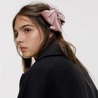 2020 vintage velvet hair bows women hair clips girls hair accessories haar two layer butterfly bow hairpin gumki do wlosow