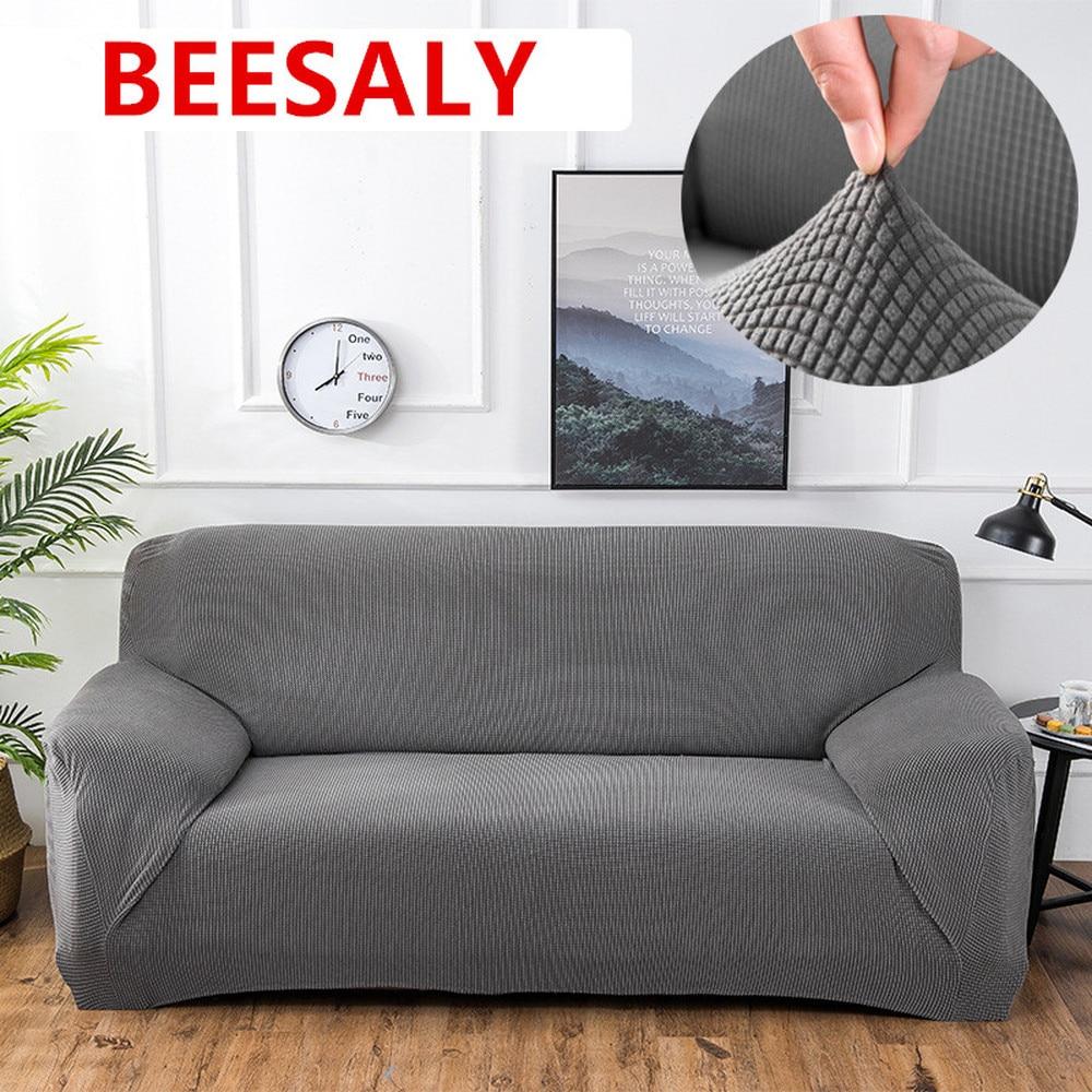 Beesali بلون مرونة أريكة يغطي تمتد أريكة يغطي ل غرفة المعيشة حامي أثاث كرسي غطاء أريكة مرونة