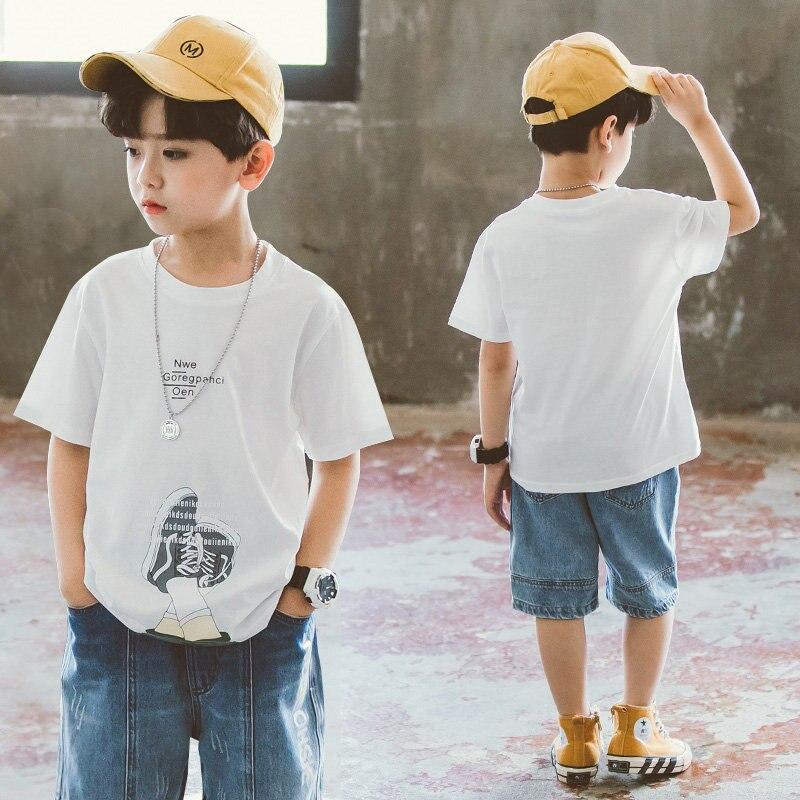 Tops de verano para adolescentes, camiseta para niños de 12 y 14 años, camisetas de moda de manga corta 2020 para adolescentes, ropa estilo coreano