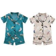 Summer Childrens Pajamas Baby Boy Clothes Cotton Pyjamas Kids T-shirt+Shorts Cartoon Pajamas For Girls Boys Sleepwear Sets 5