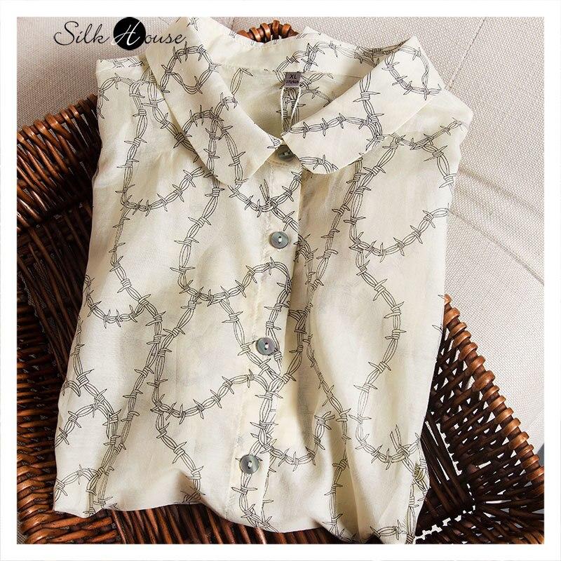 Фанатские деньги! Дизайнерская Модная рубашка из шелка тутового шелкопряда с отложным воротником и длинным рукавом для женщин, новинка 2021