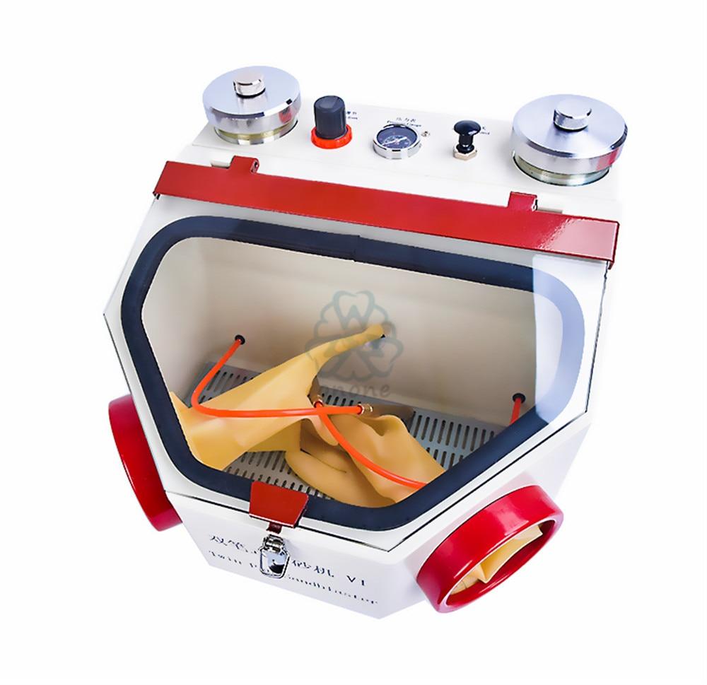 الأسنان التوأم القلم التفجير وحدة مختبر الأسنان آلة الرمل الكهربائية الرمال التفجير الأسنان ساندبلاستر