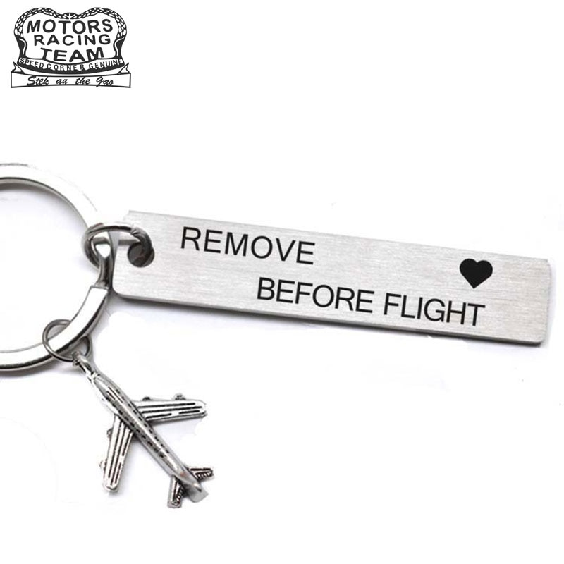 CLELO Luggage Tag engraved Rmove before Flight Metal bagage tags for Flight Crew Pilot Aviation Lover Travel Accessories pilot golden badge wing pin flying medal for flight crew gift as collection souvenir