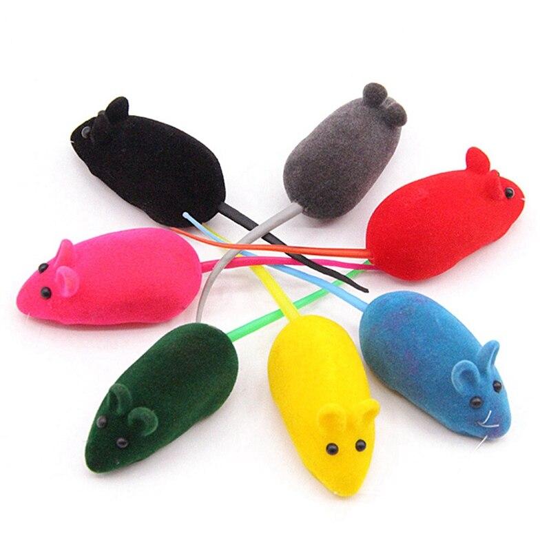 Ratón de juguete de colores aleatorios Para Gatos, juguete Para Mascotas con...