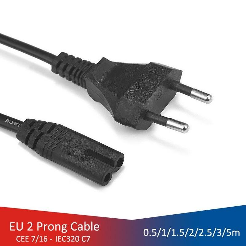 Cable de energía UE 2pin IEC320 C7 de Cable de extensión para...