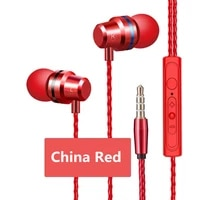 earphone universal 3 5mm in ear stereo earpiece earbuds built in microphone high quality hifi wired earphones for cell phone
