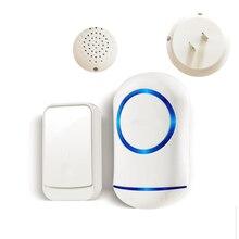 New Wireless Doorbell Waterproof 200M Remote EU Plug smart Door Bell Chime battery 1 button 1 receiv