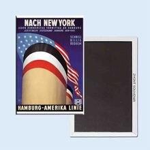 Nach New York Hamburg amerika linie vintage travel poster 24084 Retro nostalgia fridge magnets