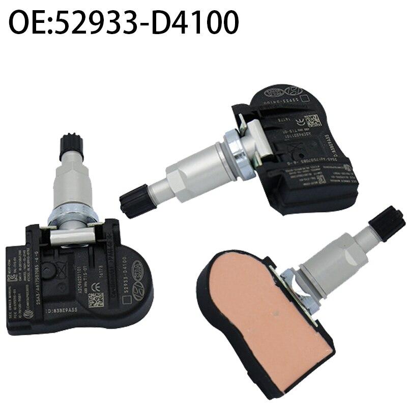 4 Uds TPMS para Hyundai Elantra 2018 I30 KIA OPTIMA NIRO Sensor de Monitor de presión de neumático 433MHz TPMS 52933-D4100 52933-D91000