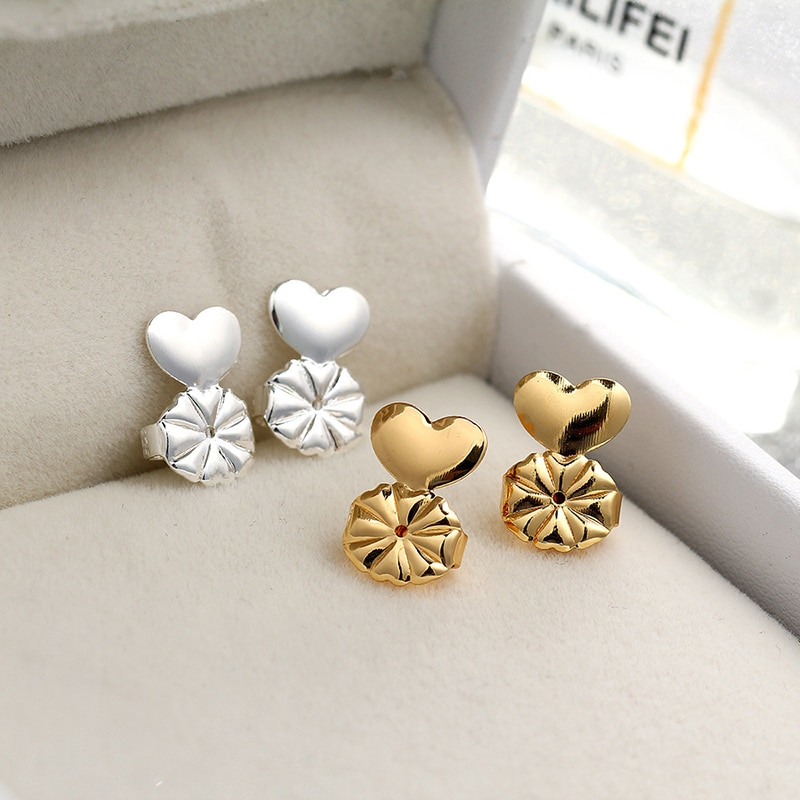 Fashion Styles Hypoallergenic Earring Lifter Fits All Earlobe Stud Back Nut Lift Support Post Earrin