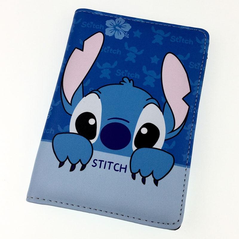 cartoon stitch Passport Holder Travel Accessories Passport Cover Case ID Card Holders