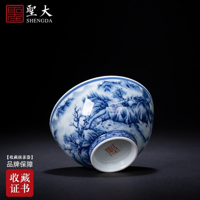 الخور في فناجين الشاي رسمت باليد السيراميك الكونغ فو الشعر سادة كأس عينة فنجان شاي خدمة الشاي jingdezhen