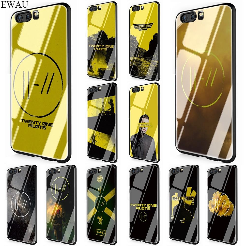 EWAU Twenty One Pilots чехол из закаленного стекла для телефона huawei mate P 10 20 30 Lite Pro Y9 Honor 8X 7A