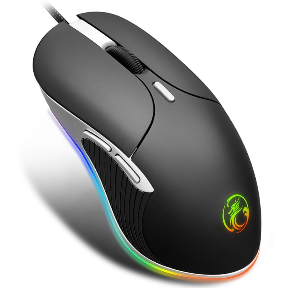 RGB 6400 ديسيبل متوحد الخواص برو الألعاب ماوس الكمبيوتر ماوس ألعاب Mause ألعاب الفئران لعبة البصرية USB لعبة الفئران الكمبيوتر المحمول الألعاب ماوس