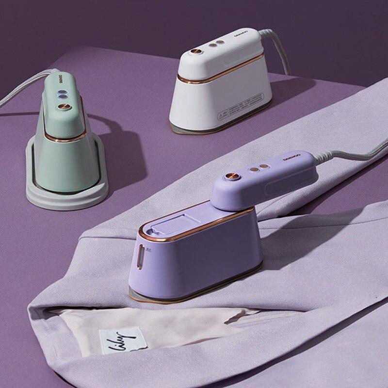 1000 واط يده البخار الحديد الكهربائية آلة تنظيف الملابس بالبخار معلق الكي المنزل السفر الملابس مكوّاة 6 ثقوب للبخار 220 فولت