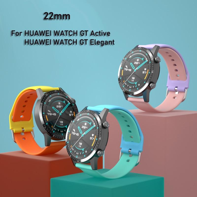 Ремешок для часов HUAWEI WATCH GT 2 2e, сменный Браслет для Samsung Galaxy Watch 3 Active 2 Gear S3 /HONOR Watch Magic 2, 20 мм 22 мм