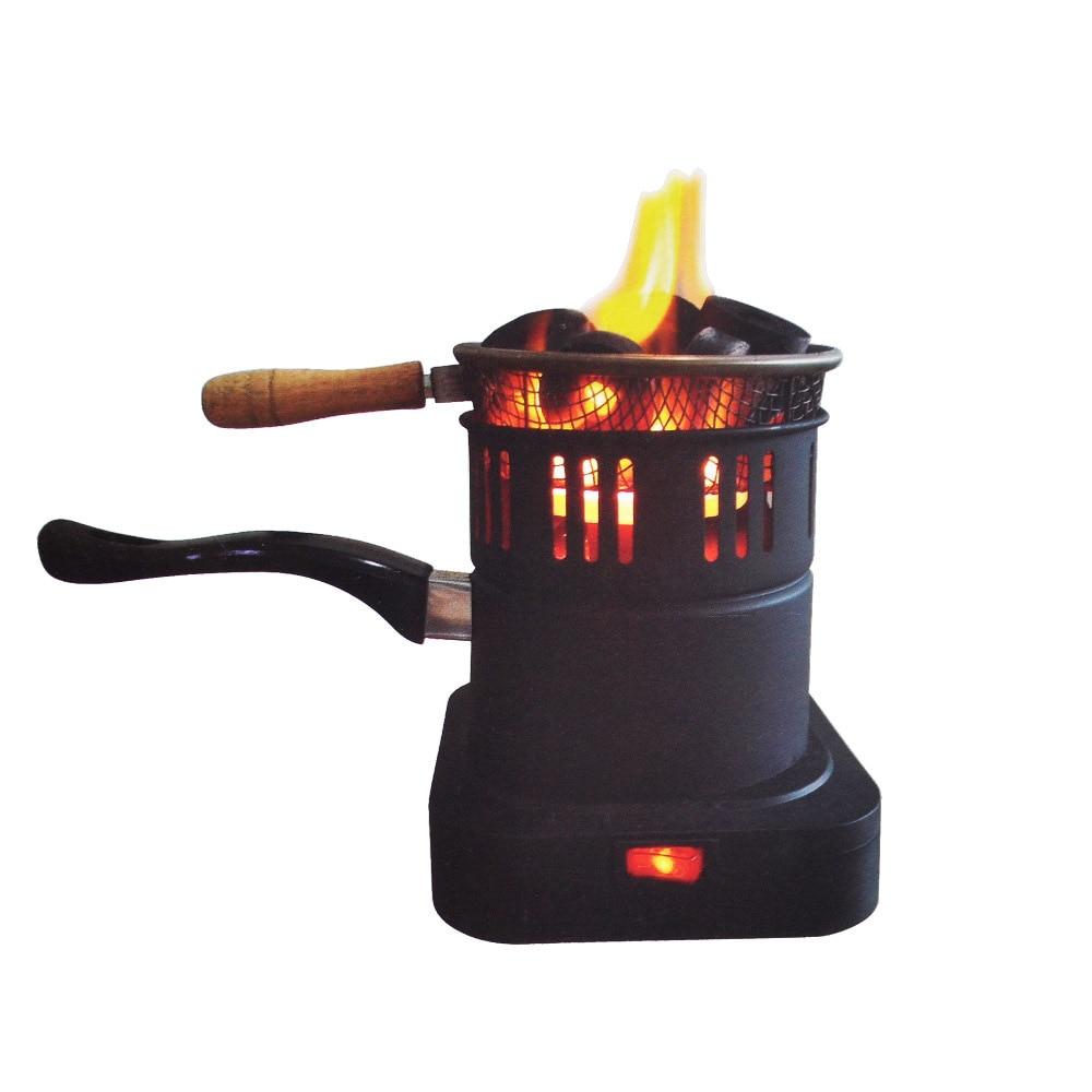 Shisha carbón de narguile estufa calentador gran horno de carbón placa caliente carbón quemador accesorios para tubos con Cable de enchufe de la UE negro