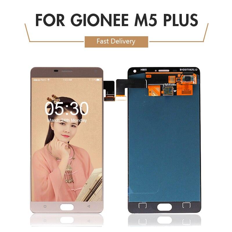Para Gionee maratón M5 Plus Pantalla LCD de montaje de digitalizador con Pantalla táctil Pantalla M5 Plus Pantalla LCD Pantalla envío gratis