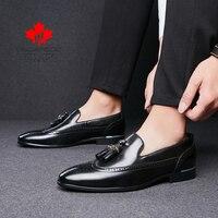Men Dress Shoes 2021 Autumn Fashion Business Wedding Footwear Man Comfy Leather Design Formal Shoes Men Europe Style Men Shoes