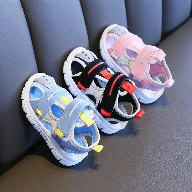 Summer baby sandals for girls boys soft bottom cloth children shoes fashion little kids beach sandals toddler shoes