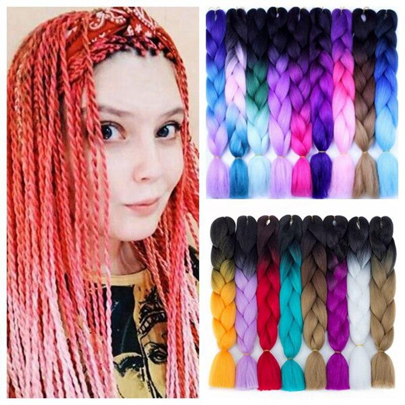 Alizing-extensiones de cabello sintético para mujer, cabello trenzado de 24 pulgadas con...