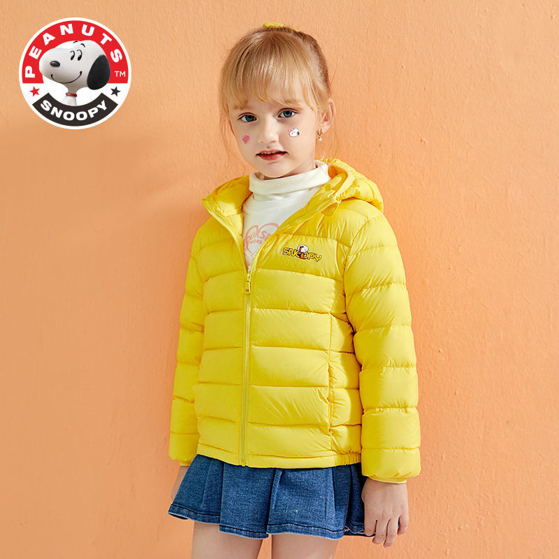 Snoopy Children's Lightweight Down Jacket Autumn and Winter Baby Children's Clothing Boys and Girls Short Winter Jacket enlarge