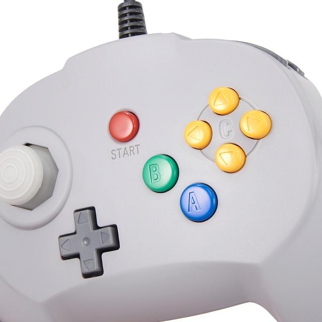 [New Version] 2 Pack for N64 Controller, Mini Game pad Joystick for N 64 Console- Plug & Play (Design from Japan) 6