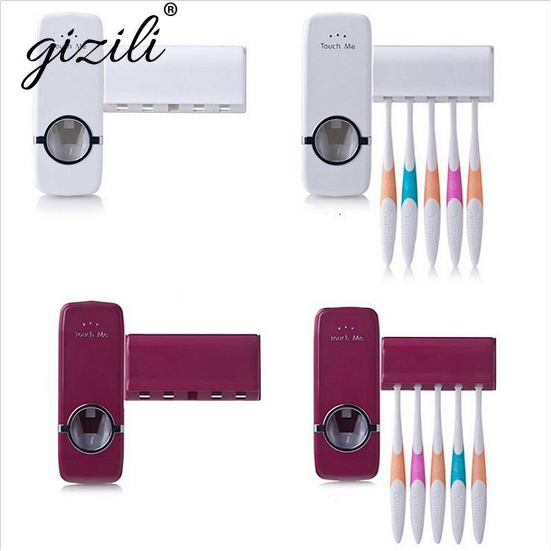 Dispensador automático de pasta de dientes de la familia titular de cepillo de dientes de Baño Artículos domésticos Set de accesorios de baño Banheiro