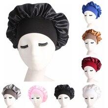1pc Silk Salon Bonnet Women Sleep Shower Cap Bath Towel Hair Dry Quick Elastic Hair Care Bonnet Head