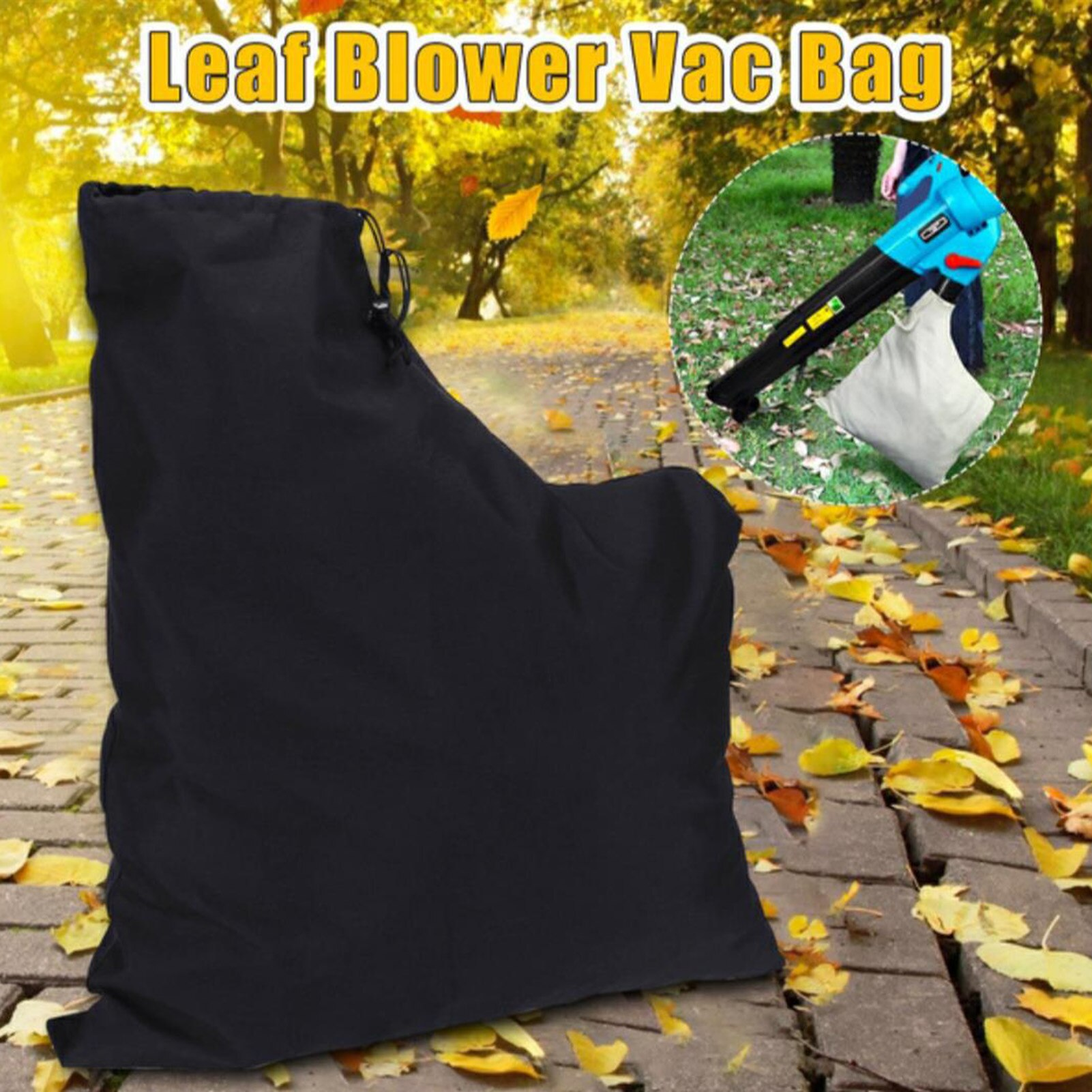 Vacuum Bag Zippered Type Polyester Storage Leaf Blower Dust Collection Lawn Shredder Replacement Sto