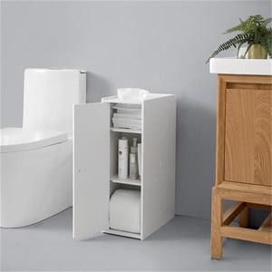 20*40*65cm PVC Storage Furniture Narrow 6 Layers Bathroom Toilet Cabinet Bathroom Space Saver Shelf Storager Organizer Holder