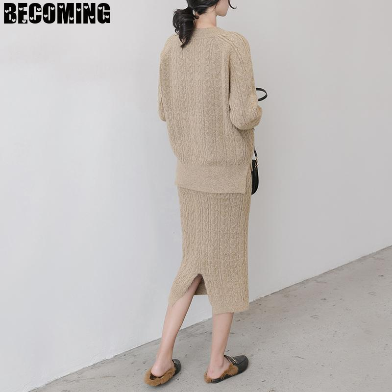 Net Red Pregnant Women's Foreign Style Suit Fashionable Autumn Wear Out Knitting Skirt Autumn Winter Twist Sweater1594279 enlarge