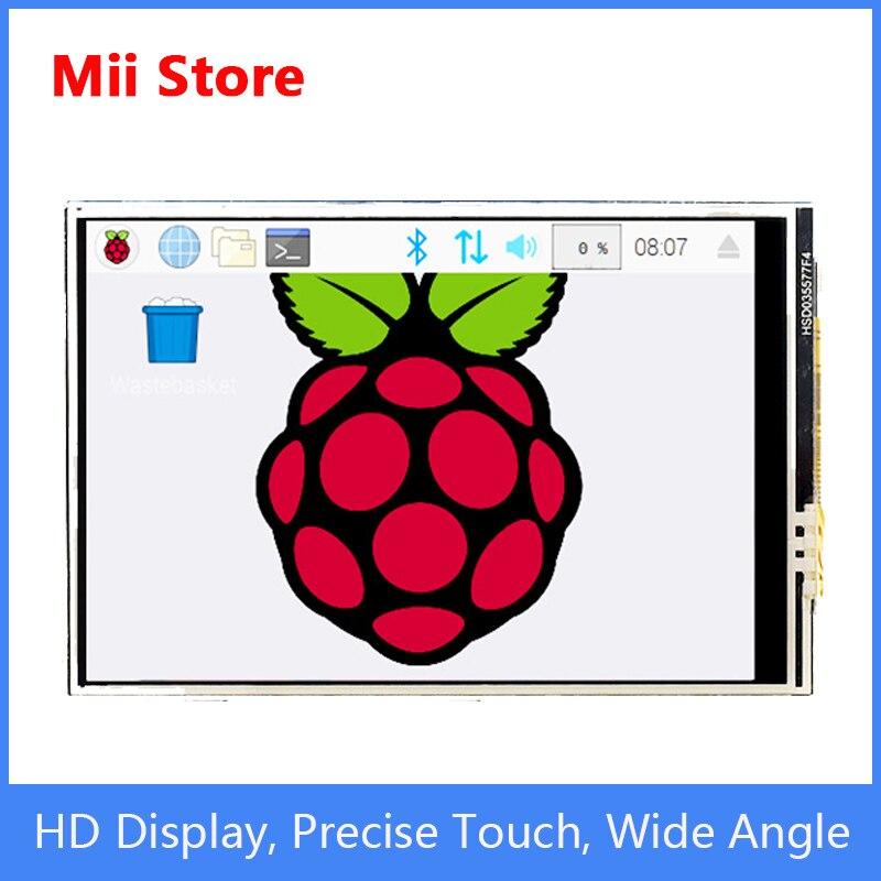 Tela de Toque Raspberry Polegada Lcd Suporte 3 – 4 Zero Framboesa Alta Definição Tela Exibição pi 3.5 hd