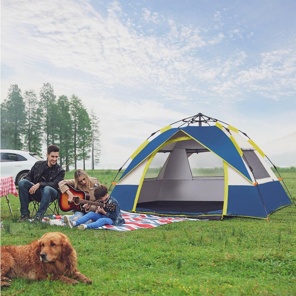 TANXIANZHE namiot na zewnątrz 2 osoby rodzina tente de toit carpas para eventos schronienie tente de plage casas de camping popup wędkowanie