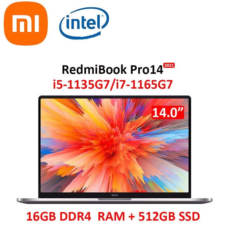 Xiaomi portátil RedmiBook Pro 14 i7-1165G7 16GB DDR4 RAM 512GB SSD 14...
