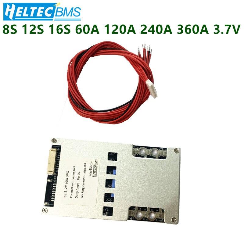 Großhandel 12S 16S 60A 120A BMS Balance Board für 3,7 V 18650 Li-Ion Batterie schutz bord Balance