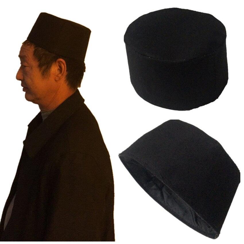 Gorro redondo tradicional musulmán de invierno, sombrero de oración, accesorios islámicos, hombre turco árabe, Topi Kufi, gorro de algodón cálido para Ramadán